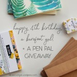 Happy 4th Birthday, A Barefoot Gal! + Pen Pal Themed Giveaway